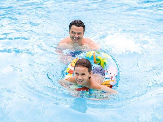 "Intex 24"" Inflatable Transparent Ring Swim Tube"