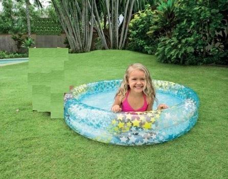 """• Brand: Intex • Material: Vinyl Fabric • Size: 48 x 10 inch ( 1.22m x 25cm ) inflated • Capacity 7"""" ( 18cm ) of wall height • 8ga ( 0.20mm )rings. • 7ga (0.18mm) floor. • Water Capacity: 150 L """
