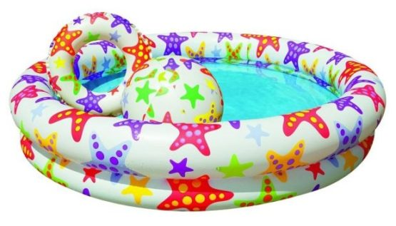 Intex Stargaze Pool Set With Ball and Ring – Color May Vary