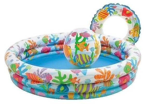 Intex Fishbowl Pool Set With Ball and Ring - Color May Vary