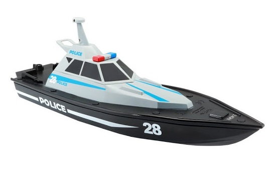 Maisto Remote Control High Speed Police Boat - Colors May Vary