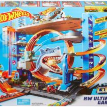 Hot Wheels Garage with Loops and Shark Connectable Play Set With 2 Cars
