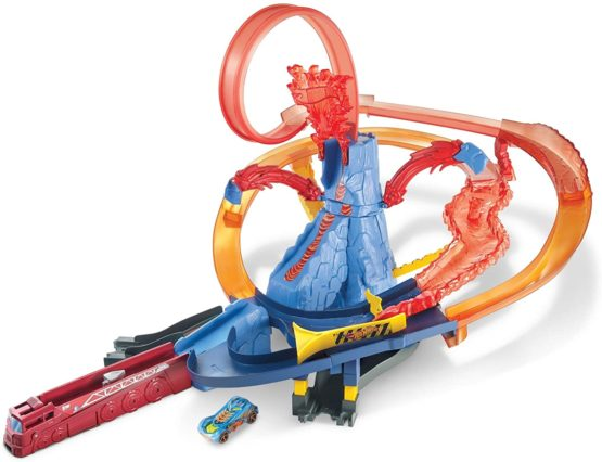 Hot Wheels City Volcano Escape Connectable Play Set With 1 Car
