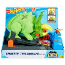 Hot Wheels Smashin Triceratops Playset