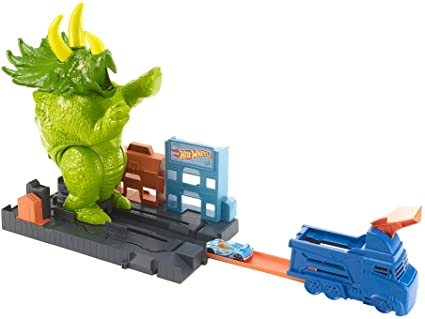 Hot Wheels Smashin Triceratops Playset