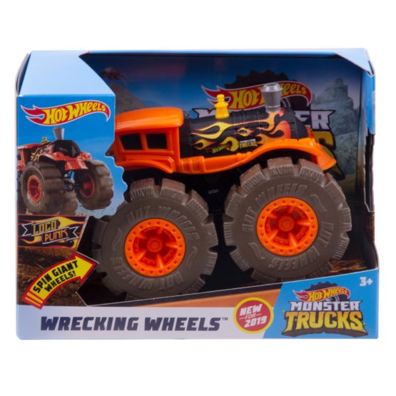 Hot Wheels Monster Trucks Wrecking Wheels – Color & Style May Vary