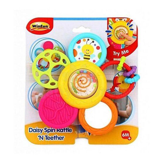 Winfun Daisy Spin Rattle N Teether