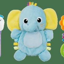 Winfun Elephant Comforter Rattle Set