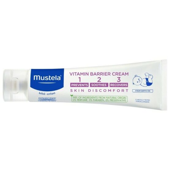 Mustela Vitamin Barrier Cream Complete Skincare For Nappy Area 50ml - 1
