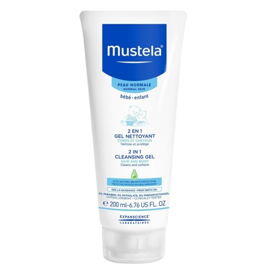 Mustela 2-in-1 Baby Body Wash and Baby Shampoo 200ml