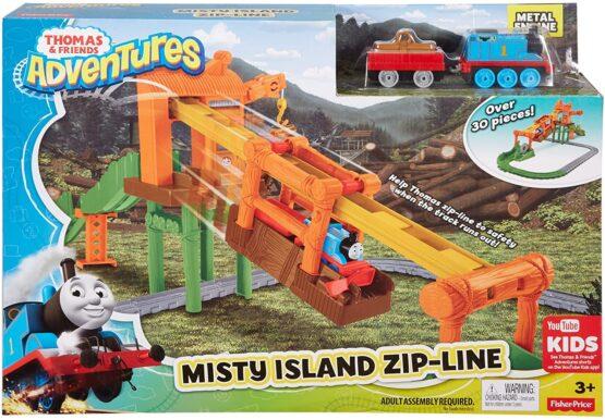 Thomas & Friends Adventures Misty Island Zip-Line Train Playset - 4