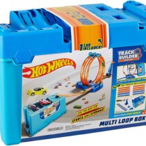 Hot Wheels Builder Multi Loop Box Playset and Connectable Track Play Set with Diecast Car