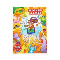 Crayola Sloths Love Llamas Coloring Book