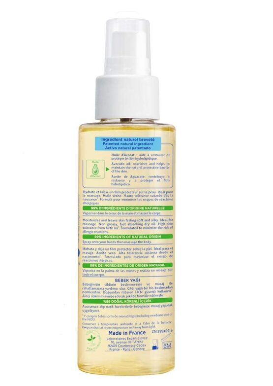 Mustela Baby Massage Oil 100ml - 2