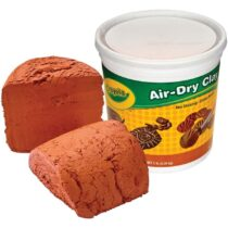 Crayola 2.5 lb Terra Cotta Air-Dry Clay Bucket