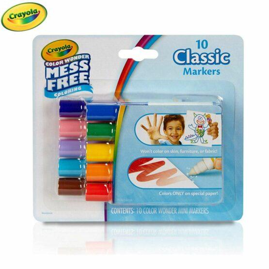 Crayola Colour Wonder Mess Free 10 Classic Mini Marker