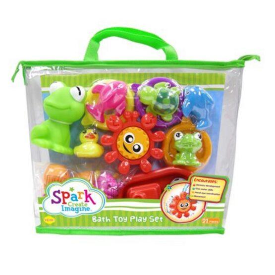 Spark Bath Toy Play Set 19 pcs