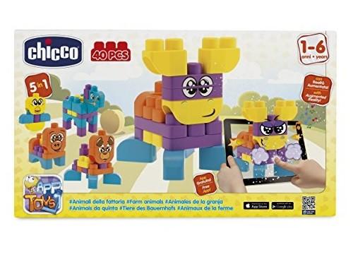 Chicco Toy Building Blocks Animals 40 Pieces