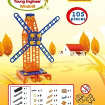 Polesie Young Engineer Wind Mill Construction Toy Set 105 Pieces