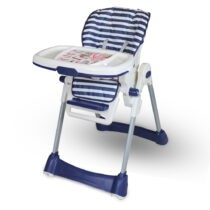 Tinnies Baby Adjustable High Chair Blue Stripes