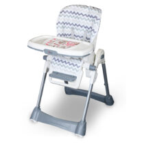Tinnies Baby Adjustable High Chair Grey Stripes