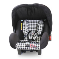 Tinnies Baby Carry Cot Black Check