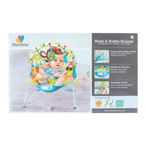 Mastela Baby Toddlers to Newborn Musical Chair Rocker and Bouncer Monkey