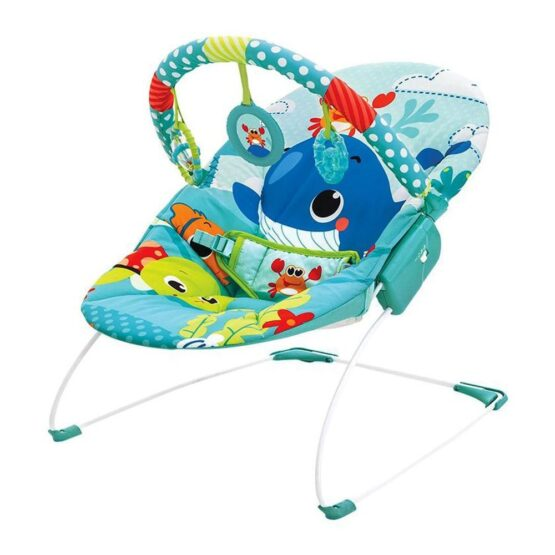 Mastela Baby Toddlers to Newborn Musical Chair Rocker and Bouncer Whale