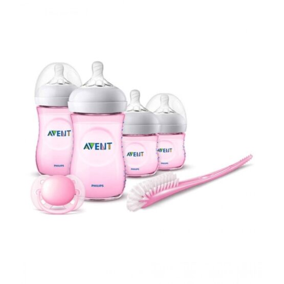 Philips Avent Newborn Natural Starter Set Pink