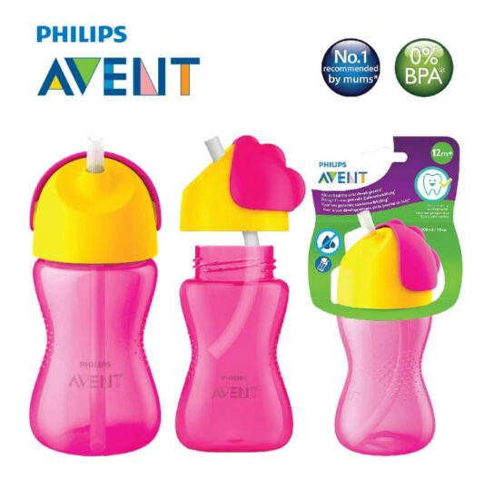 Philips Avent Straw Cup 300ml 12m+ – Color May Vary