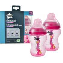 Tommee Tippee Advanced Anti Colic Decorated Feeding 2 Bottles 0m+ 260ml Red