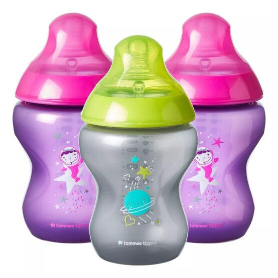 Tommee Tippee Boldly Go Baby Bottle and Pacifier Gift Set Pink