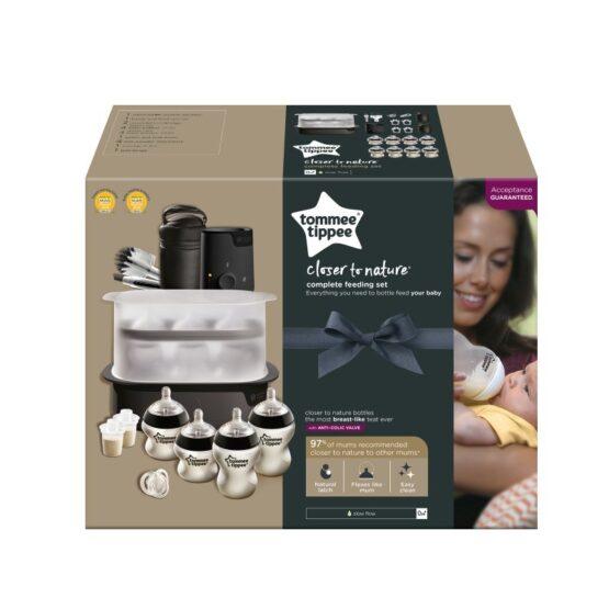 Tommee Tippee Baby Complete Feeding Set Black