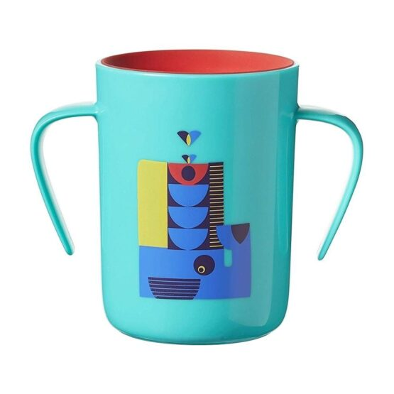 Tommee Tippee Easi Flow 360 Lip Activated Cup Teal Color 200ml 6m+