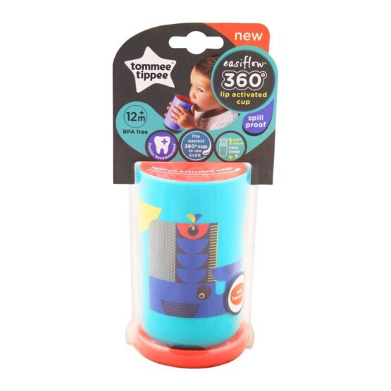 Tommee Tippee Easi Flow 360 Lip Activated Cup Teal Color 250ml 12m+
