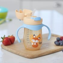 Tommee Tippee Weighted Straw 2 Handle Cup 240ml Orange