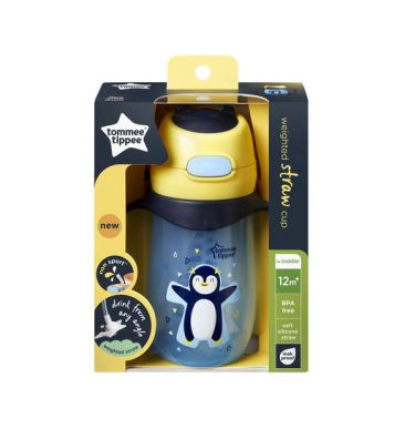 Tommee Tippee Weighted Straw 2 Handle Cup 240ml Blue