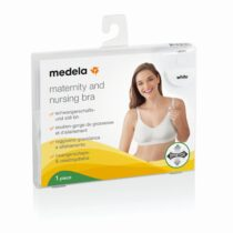 Medela Maternity and Nursing Bra White Large