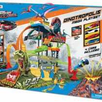 Maisto Dinotropolis Giant Play Set with 4 Cars