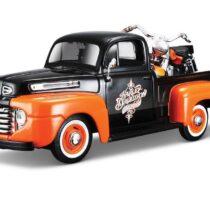 Maisto Harley-Davidson 2001 FLSTS Heritage Springer & 1950 Chevy 3100 Diecast Vehicle