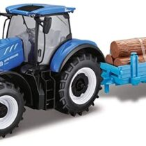 Bburago New Holland Farm Tractor with Trailer – Style May Vary