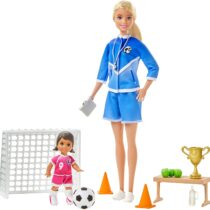 Barbie Soccer Coach Playset with Blonde