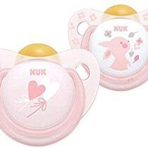 Nuk Rose Latex Pacifier For Baby Girl