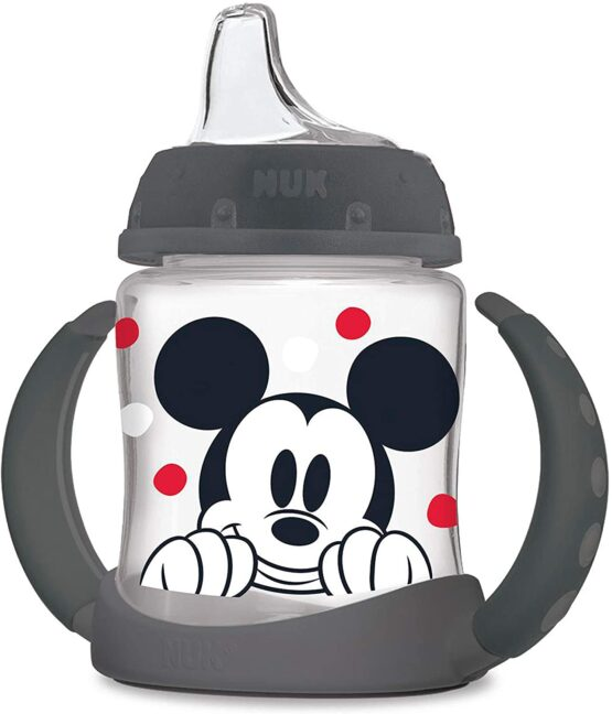 Nuk Disney Learner Sippy Cup, Mickey Mouse, 5 Oz 1Pack  Color & Style May Vary