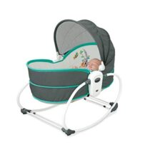 Mastela 5 in 1 Baby Bassinet Rocker – Grey