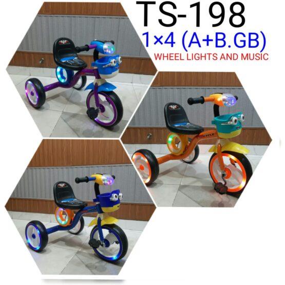 Kids Tricycle TS-198 (Wheel Lights + Music)