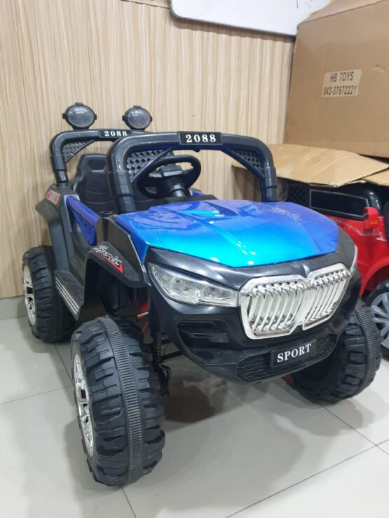 Electric Rechargeable Ride On Jeep – Red & Blue