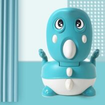 Kids Cartoon Potty Chair Egg In Mouth