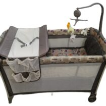 Foldable Baby Play Pen – Brown