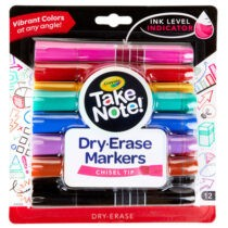 Crayola Chisel Tip Dry Erase Markers Pack of 12